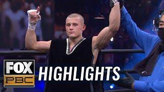 Eimantas Stanionis defeats Gonzalez by ninth-round KO in PBC Fight Night | HIGHLIGHTS | PBC ON FOX