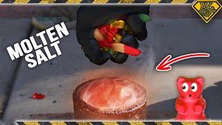 Melting Gummy Bears in Molten Salt