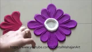 Creative and Innovative Rangoli Designs Using Spoon | Easy Rangoli by Shital Mahajan.