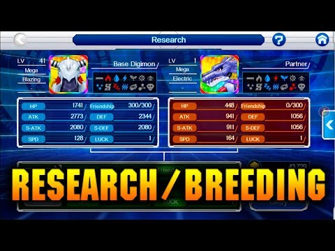 [Digimon Links] How To Awaken Digimon! EVERYTHING YOU NEED TO KNOW ABOUT RESEARCH/BREEDING