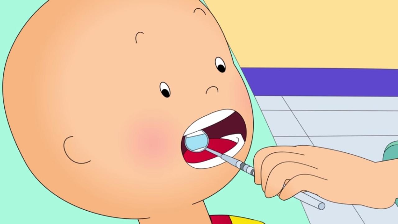 Caillou en fran ais caillou chez le dentiste dessin anim complet en francais youtube - Dessin caillou ...