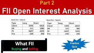 😎 FII Open Interest Analysis – Part 2: Tricks to find what FII trades using open interest