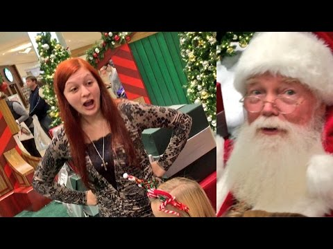 GRIM SHOCKS SANTA! RUINS CHRISTMAS PICTURE! HEEL WIFE GETS TRIGGERED!