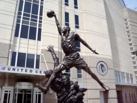 Michael Jordan Statue @ United Arena, Chicago