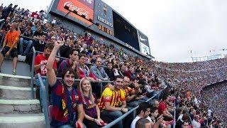 Timelapse of the Camp Nou during FC Barcelona v Real Madrid