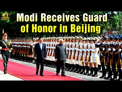 PM Modi receives Guard of Honour in China | Indian national anthem