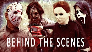 BEH ND THE SCENES Jason Voorhees vs Leatherface vs Ghostface vs Michael Myers