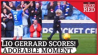 Adorable Moment As Steven Gerrard's Son, Lio, Scores With Help From Dad