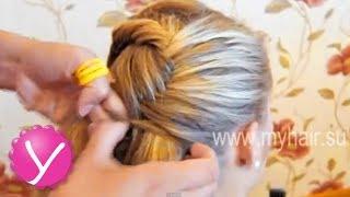 Плетение косичек - Как плести колоски с подхватом