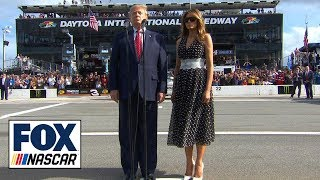 President Donald Trump gives the starting command at the 62nd Daytona 500 | NASCAR ON FOX
