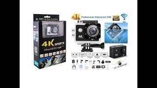 4K Sports Ultra HD DV Camera With Wifi I Unboxing and Footage Review I 4K Video Test I