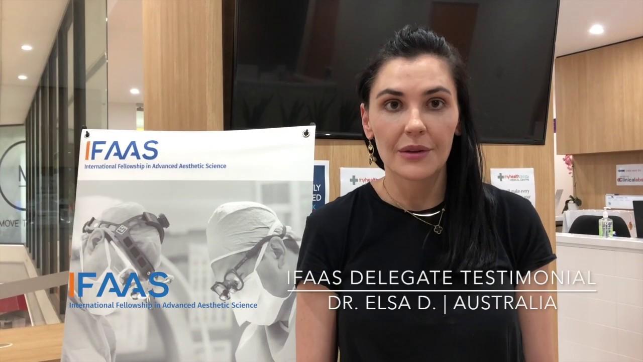 IFAAS Delegate Testimonial - Dr. Elsa D. | Australia