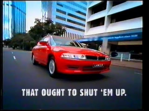 "Mitsubishi Lancer TV ad (Australia) - ""Shaddap You Face ..."