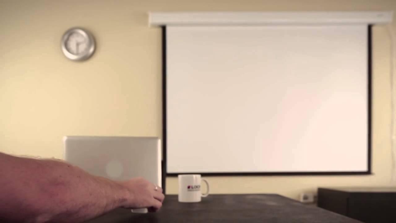 Loch es100 pantalla el ctrica para proyeccion 100 for Pantalla proyector electrica