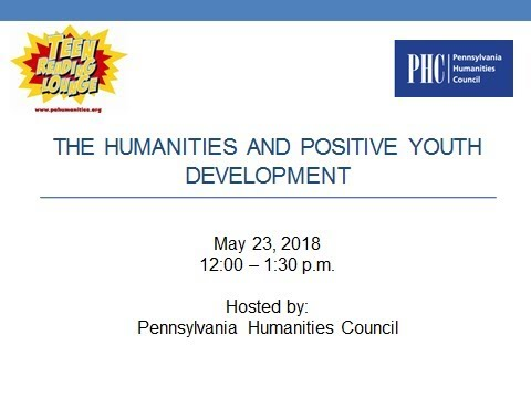 TRL Humanities And Positive Youth Development Webinar 2018