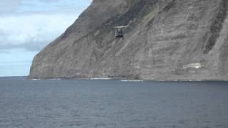 Last helicopter to leave Tristan da Cunha