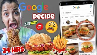 GOOGLE DECIDES What I Eat For 24 HOURS CHALLENGE- *Chocolate Maggi* DIFFICULT Food Challenge INDIA