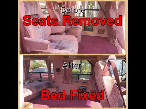 Chevy G20 Middle Seats Removed & Back Seat Fixed