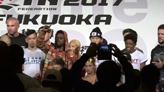 『RIZIN FIGHTING WORLD GP 2017 in FUKUOKA Weigh In Video -秋の陣- 』  【全選手マスコミ公開計量】