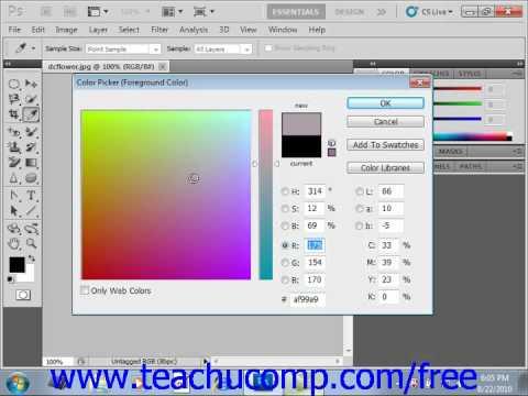 photoshop cs5 tutorial using the color picker adobe training lesson
