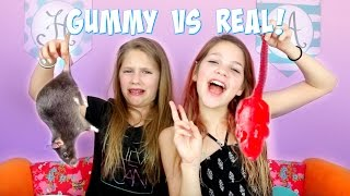 Gummy vs Real Food Challenge | Annie and Hope JazzyGirlStuff