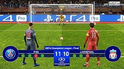 PES 2019 | PSG vs Liverpool | Final UEFA Champions League (UCL) | Penalty Shootout