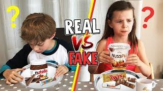 FAKE vs. ORIGINAL Süßigkeiten - Kann man den Unterschied schmecken? Lulu & Leon - Family and Fun