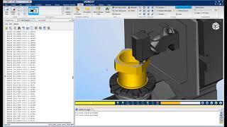 VERICUT CNC Simulation of an DMG MORI - DMC 125 FD duoBLOCK