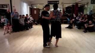 Tango Lesson: Follower Forward and Side Sacadas