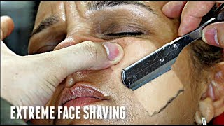 SHAVING MY MOTHER-IN-LAW'S FACE V.4! *EXTREME* STRAIGHT RAZOR TUTORIAL HD!
