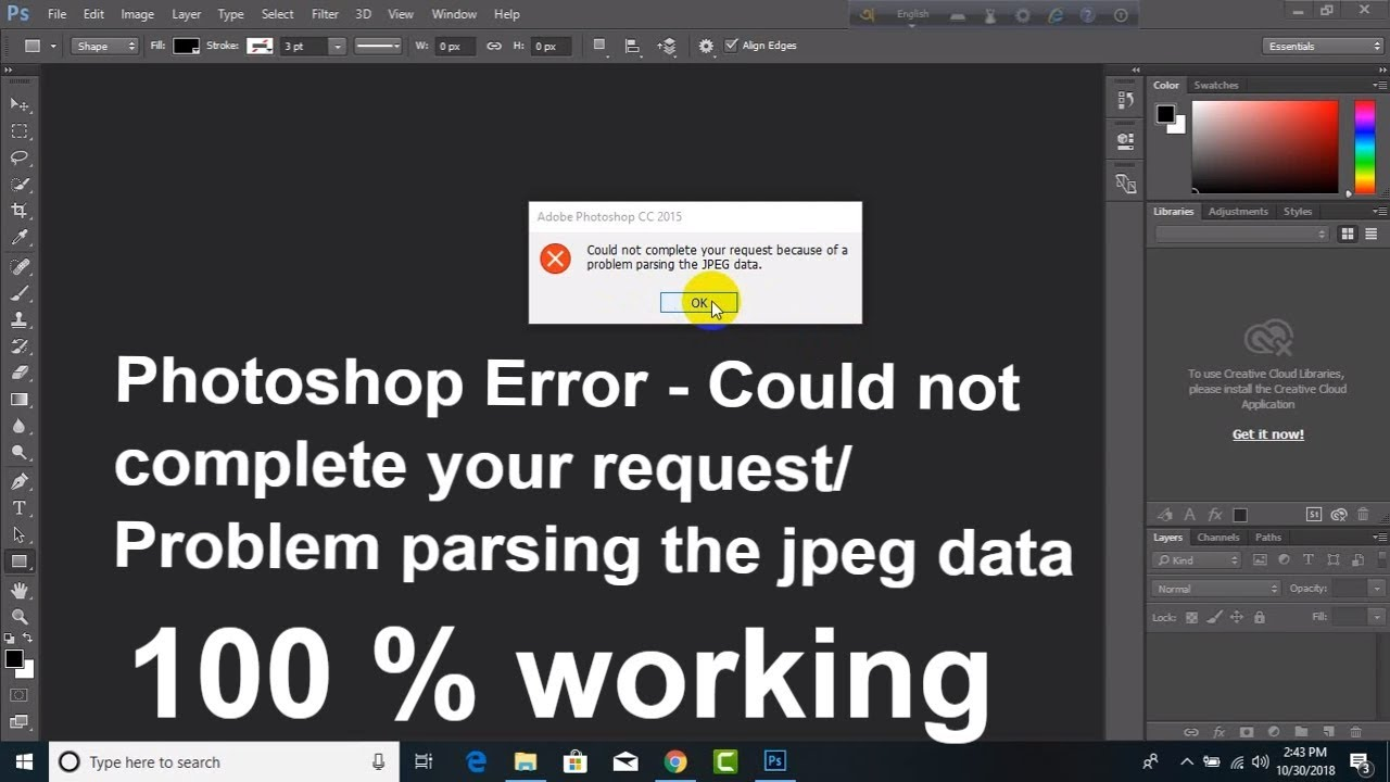 photoshop problem parsing the jpeg data mac
