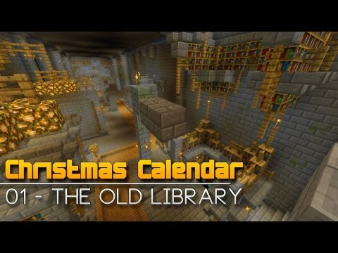 Christmas Calendar - 01 The Old Library - Minecraft Parkour Map
