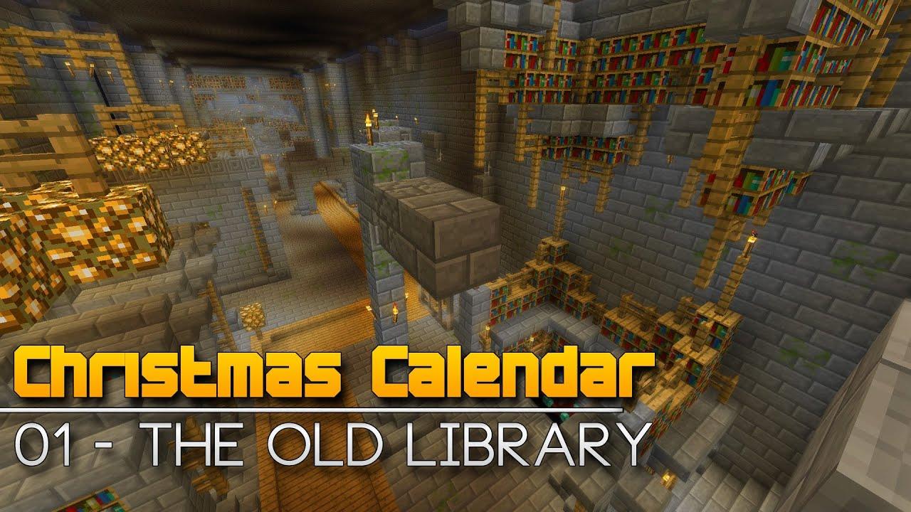 Christmas Calendar Parkour : Christmas calendar the old library minecraft