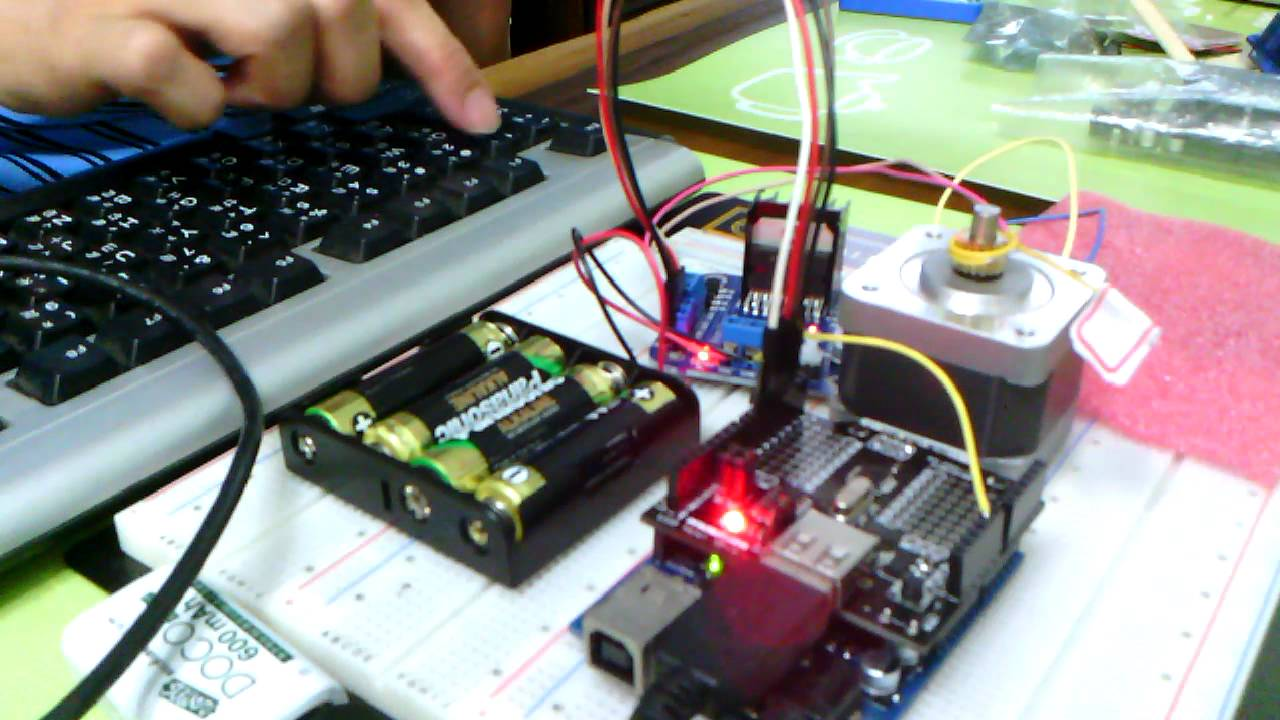 鍵盤控制步進馬達 part arduino usb host shield stepper