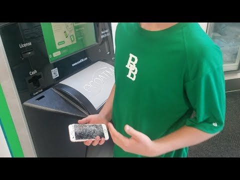 Selling my broken iPhone 7 at the ecoATM! It works great as a paperweight!