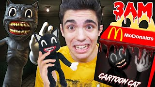 NON ORDINARE L' HAPPY MEAL di CARTOON CAT dal MC DONALD del DARK WEB alle 3 DI NOTTE!! *pauroso*