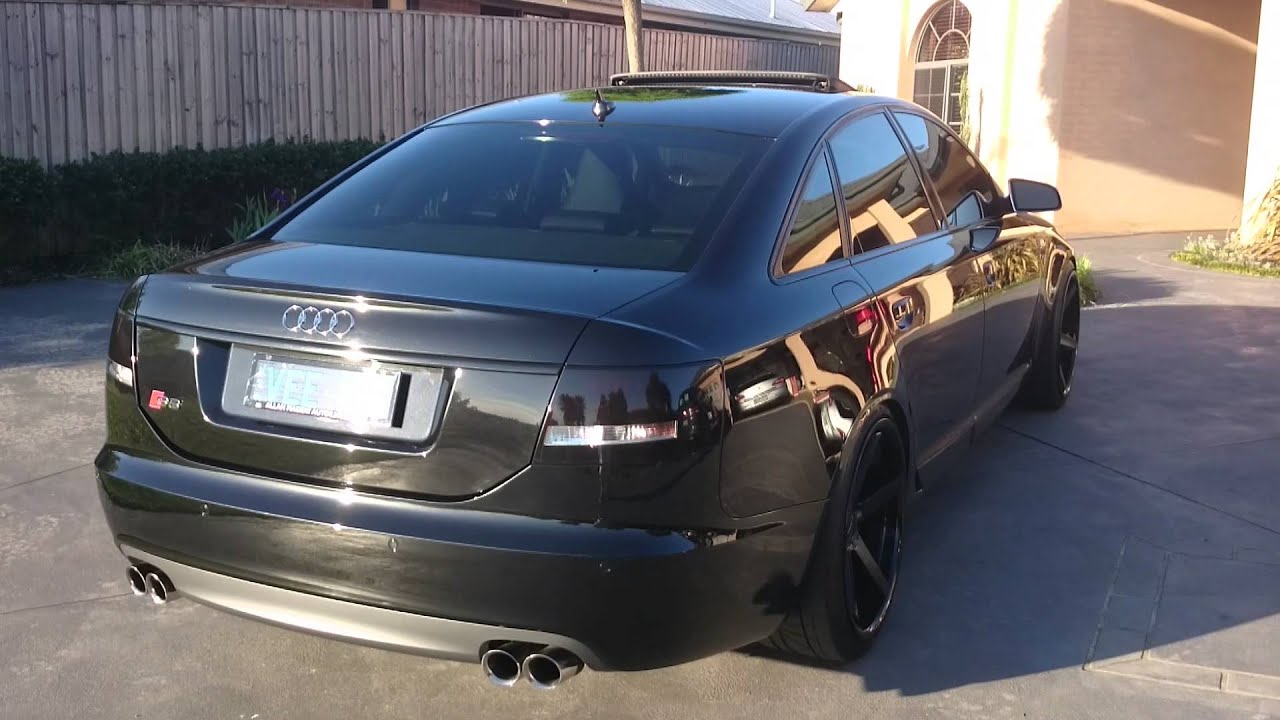 audi s6 v10 custom exhaust youtube. Black Bedroom Furniture Sets. Home Design Ideas