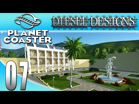 Planet Coaster : EP7: Starting the Plaza! (Theme Park Simulator 1080p)