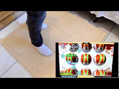 DIY DDR Mat from PlayStation Controller