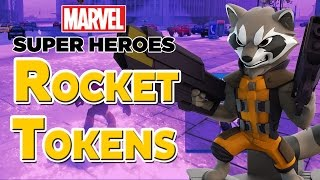Disney Infinity 2.0 All Rocket Raccoon Crossover Tokens in Avengers Playset