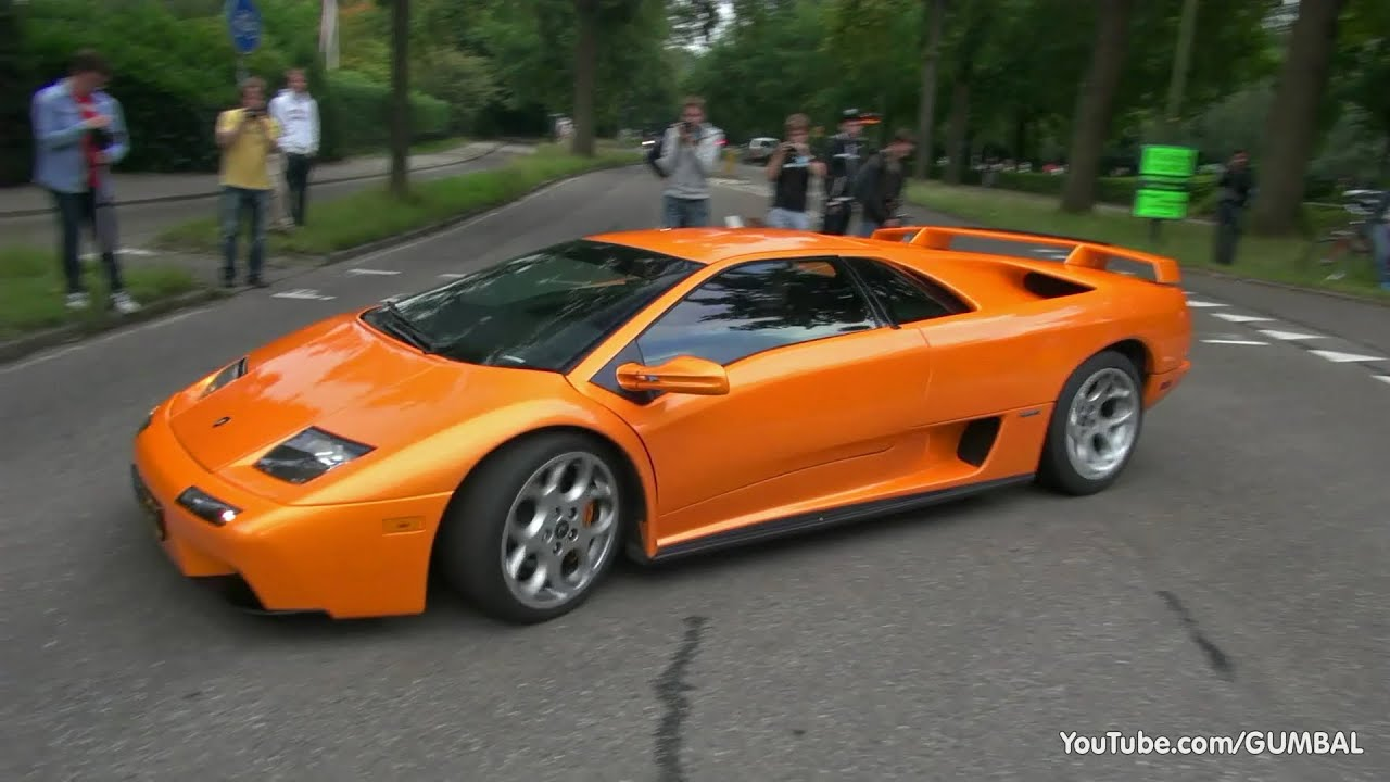 Lamborghini Diablo Vt 6 0 V12 Amp Diablo Vt Roadster Exhaust Sounds Youtube