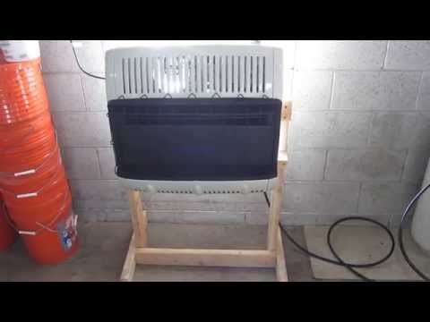 Mr. heater propane vent-free blue flame wall