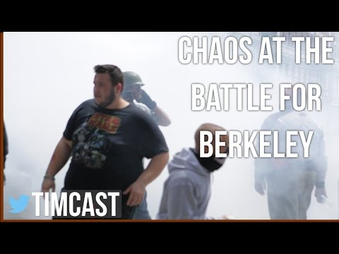 CHAOS IN BERKELEY ANTIFA V. ALT RIGHT