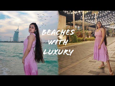 Unique Beaches Of Dubai- La Mer, Umm Suqeim + Palm Island With Atlantis Hotel View Dubai, UAE