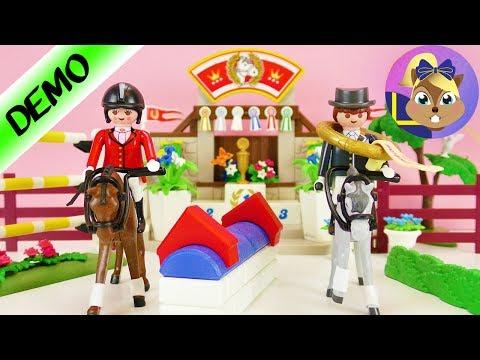 Demo Playmobil set: hästar med hoppbana och prispall