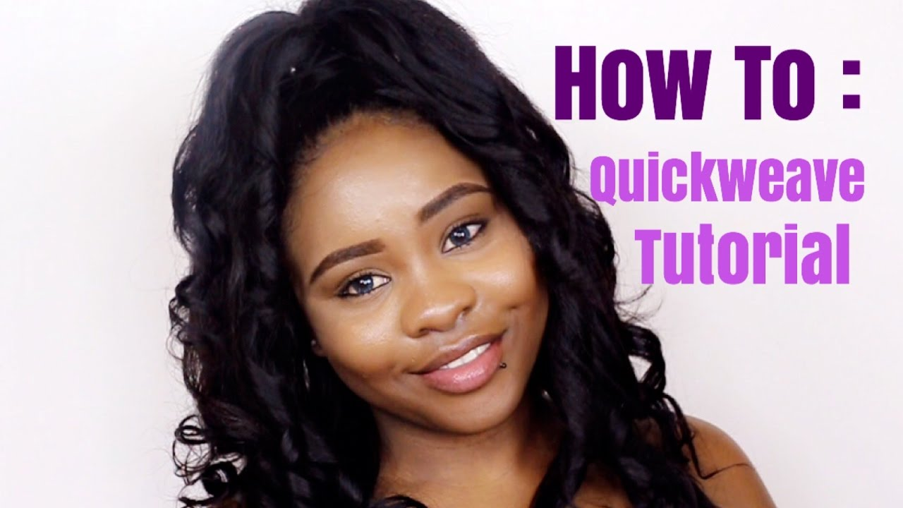 How To Quick Weave Half Up Half Down Tutorial Youtube