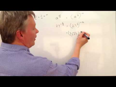 how to turn a fraction to indices