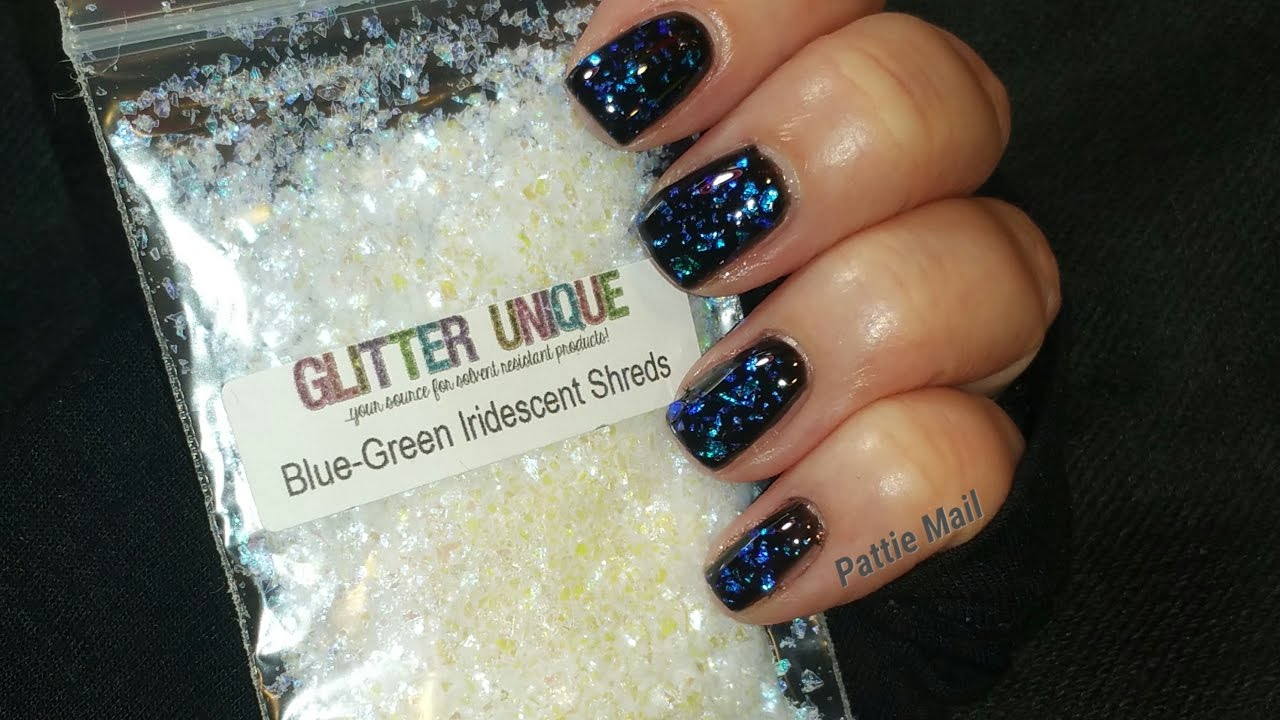 Blue Green Shreds AKA Mermaid Flakes for Less $$$ - YouTube