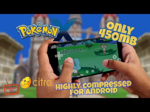 Pokemon X Highly Compressed For Android Citra 3DS Rom 450mb