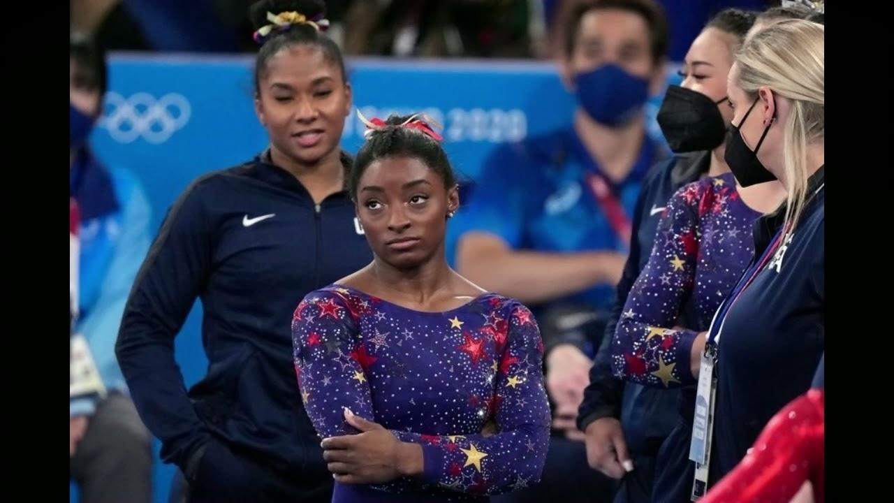 Simone Biles and U.S. Teammates Stumble and Fall Behind Russia ...